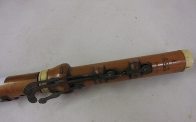 19th Century boxwood flute by Potter of London (mouthpiece s...