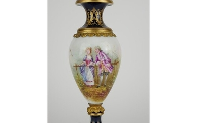 A 19TH CENTURY FRENCH SEVRES PORCELAIN AND ORMOLU VASE Hand ...