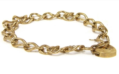 A 9ct gold curb bracelet