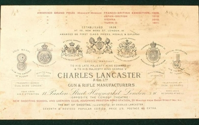 A CHARLES LANCASTER RIFLE CASE, 49.5inches over all