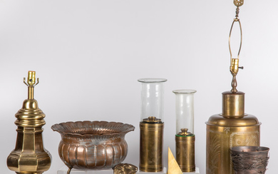 A Collection of Brass and Copper Items