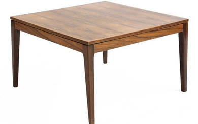 A Danish rosewood square coffee table, §