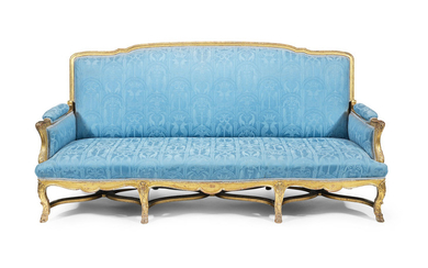 A French 19th century giltwood canape
