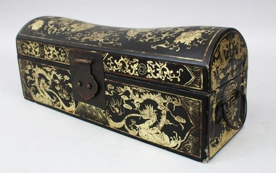 A GOOD 19TH CENTURY CHINESE LACQUER CHEST / BOX, the