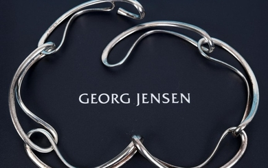 A Georg Jensen silver link necklace, No 452, boxed See illu...
