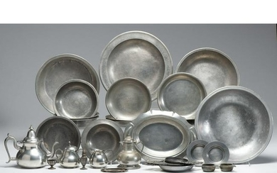 A Group of American and English Pewter