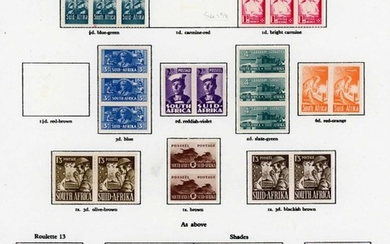 A MINT GROUP ON LEAVES: Mainly KGVI & QEII selection inc. GB...