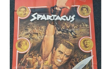 A Spartacus (1967 Re-release) French Grande film poster, dir...