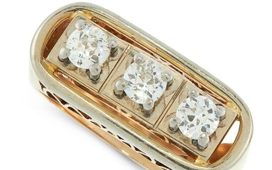 A VINTAGE DIAMOND DRESS RING in 18ct yellow gold and