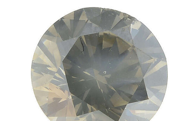A brilliant-cut 'greenish yellow-grey' diamond, weighing 0.86ct, with report.
