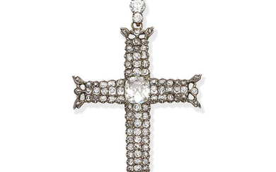 A late 18th century diamond cross