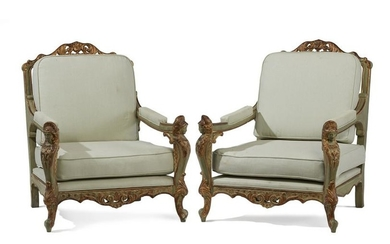 A pair of Italian armchairs