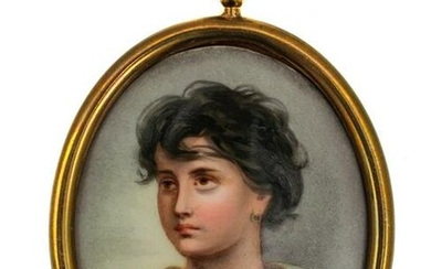 AN ANTIQUE GERMAN PORCELAIN PLAQUE 19TH C