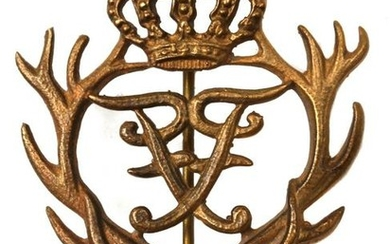 AN IMPERIAL GERMANY BRONZE HUNTING BADGE