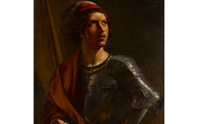 ANGELO CAROSELLI | PORTRAIT OF A YOUNG MAN IN ARMOR, POSSIBLY SAINT GEORGE
