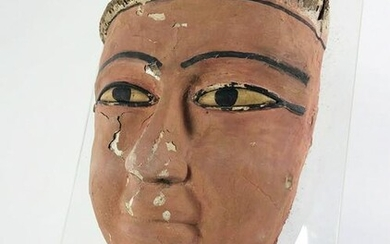 Ancient Egyptian Mummy Mask, Late Period
