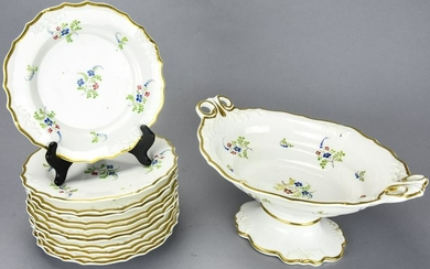 Antique French Porcelain Plates, Serving Turine