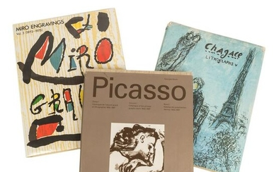 Chagal, Picasso and Miro Reference Art Books RARE