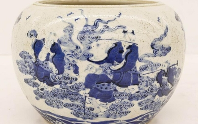 Chinese Blue & White Porcelain Planter 7.5''x10.5''.