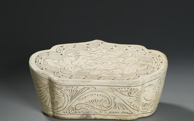 Chinese 'Cizhou' Carved Porcelain Pillow