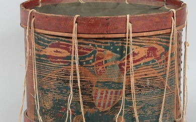 Civil War era wood drum