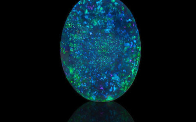 Classic Black Opal with Blue-Green Fire