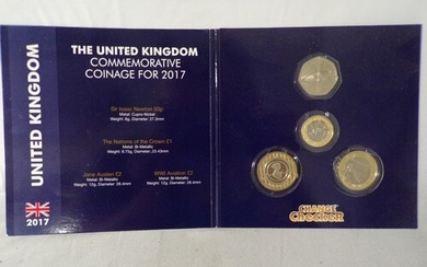 Collectable British coins including an Isaac Newton 50 pence...