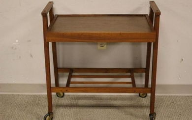 Danish Mid-Century Modern Wood Tea/Bar Cart
