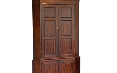 ENGLISH REGENCY INLAID CORNER CABINET