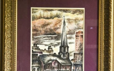 Elizabeth Adams Hurwitz 28th St Church Engraving