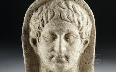 Etruscan Terracotta Votive - Head of a Youth