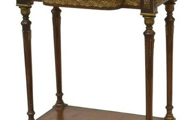 FRENCH LOUIS XVI STYLE MARBLE-TOP SIDE TABLE