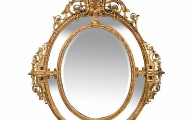 Fine and Large Louis XVI Style Double Framed Mirror