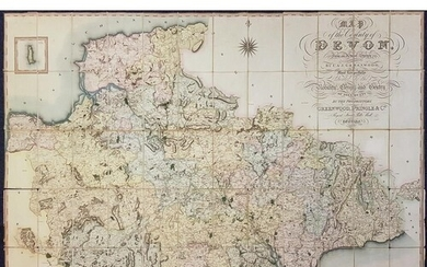 GREENWOOD, C & J - Map of the County of Devon, from an actu...