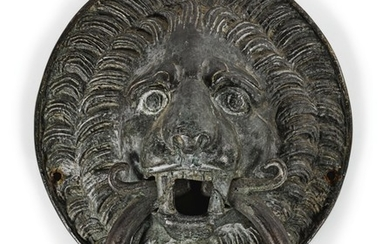 ITALIAN, IN MEDIEVAL STYLE | DOOR KNOCKER WITH A LION HEAD