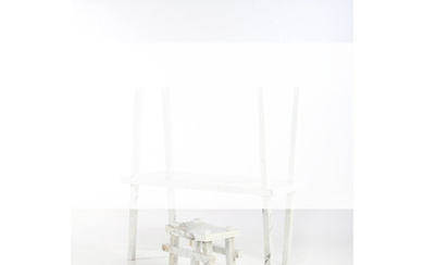 Isabelle Stanislas (born 1970) Bamboo Collection in partnership with Mineral Expertise Stool - Unique piece Calacatta marble