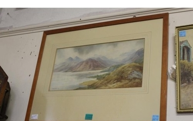 """J. McQueen Moyes """"Highland Lake Scene"""", Signed and Dated"""