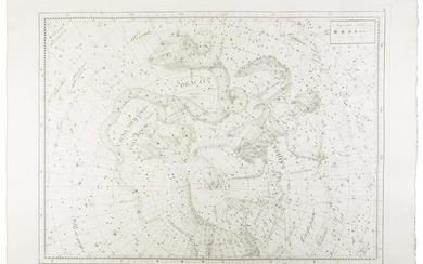 Large star chart struck from Bode's original plate