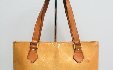 Louis Vuitton patent leather and leather bag