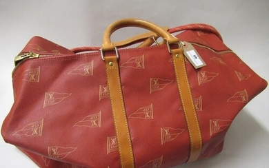 Louis Vuitton, special edition America's Cup holdall with or...
