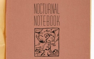 MASSON André. NOCTURNAL NOTEBOOK. New York, Curt Valentin, 1944, in...