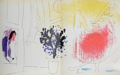 Marc Chagall, Le Coq Rouge, Lithograph