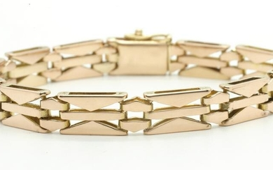 Modernes Armband in Rotgold