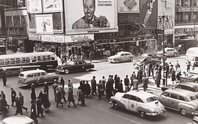 NEWMAN, ARNOLD (1918-2006) Times Square, Seventh Ave, view southwest at 42nd St.,