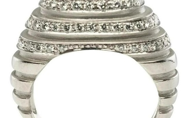 Natural Diamond Ring Band Platinum High Setting .62cttw