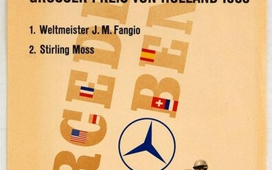 Original Advertising Poster Mercedes Benz Holland Grand