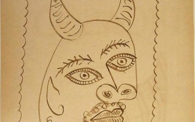 Pablo Picasso (1881-1973) Pen & Ink Drawing