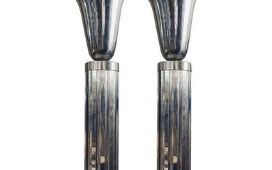 Pair of Three 36inch Tall Deco Sconces