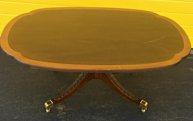Regency Style Banded Veneer Coffee Table