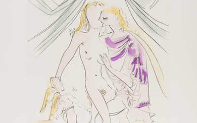 Salvador Dali (1904-1989) Venus, Mars et Cupidon (from Mythologie Nouvelle) (Field 71-8-H; M&L 487a)